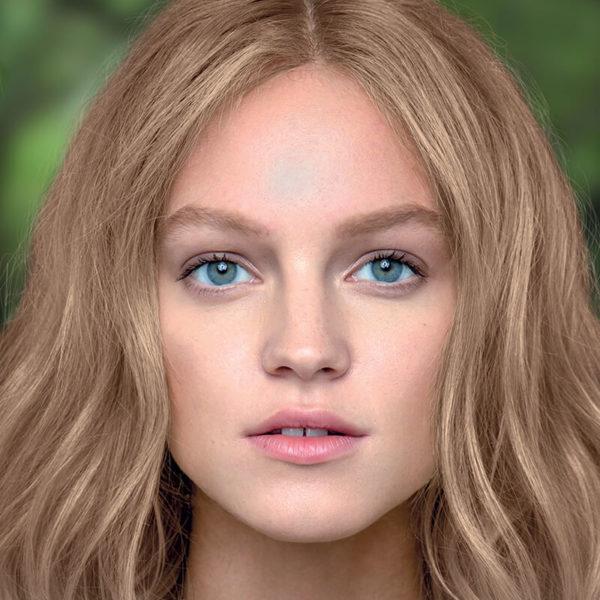 Couleur de cheveux blond lumineux
